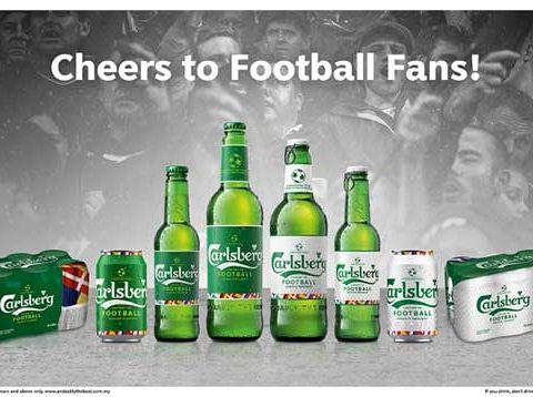 Carlsberg Limited-edition 'cheers to football' series